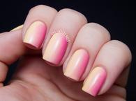 Blushing peach gradient