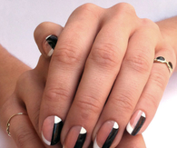 Two tone manicure
