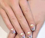 Dreamy heart nails