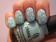 Floral china glaze nails