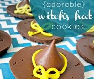 Witch Hat Halloween Cookies