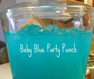 Baby blue party punch