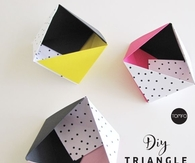 DIY Triangle Boxes