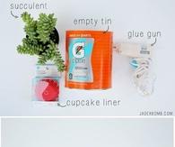DIY Cupcake Liner Planter