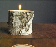 DIY Birchwood Candle