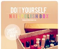 DIY Nail Polish Box