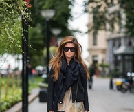 Cool Black Leather For Fall Weather