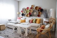 Decorating Wall with Plates, Bowls & Baskets
