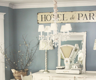 French Shabby Chic Dining Room