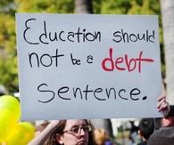Education should not be a debt sentenece