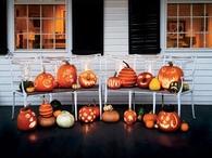 Carved & Litup Pumpkins
