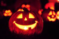 Smiling jack o lantern