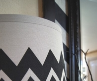 Chevron shade and halloween vignette