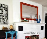 Vintage book fireplace and fall mantel