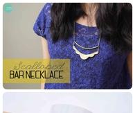 DIY Scalloped Bar Necklace