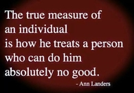 the true measure of an individual