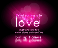 Parting is to love