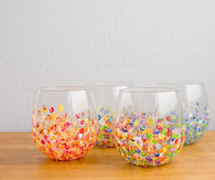 DIY Colorful Hand Dotted Tumblers