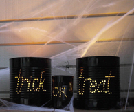 Halloween Light Cans
