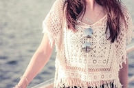 Hollow tassel top