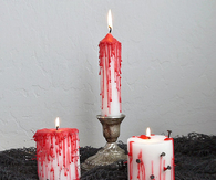 DIY Bleeding Halloween Candles