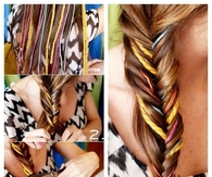 DIY Fishtail Yarn Braid