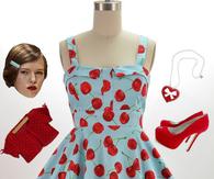 50s Vintage Short Skirt 50s style dresses