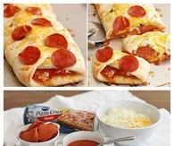 DIY pepperoni Pizza Braid