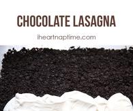 DIY Chocolate Lasagna