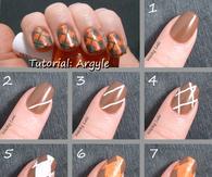 Argyle Nail Art Tutorials