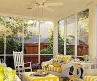 Cheery Yellow Sunroom