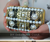 DIY Embellished Clutch