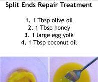DIY Split End Hair Treatments
