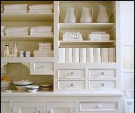 White kitchen cupboard