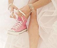 Bride in Pink Converse