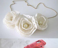 DIY White Flowers