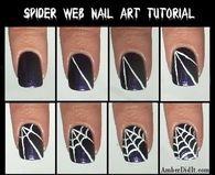 Spider web Nail Art Tutorial