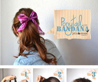 Diy Ponytail with Bandana
