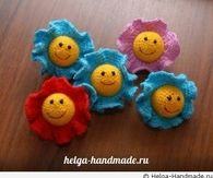 DIY Knitted Flower Baby Toy