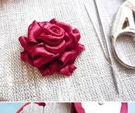 DIY Ribbon Rose
