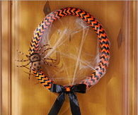 DIY Colorful Halloween Wreath