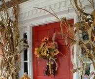 Scarecrow floral arrangement