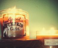 Spiced pumpkin cider candles