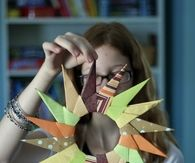 Origami Starburst Wreath