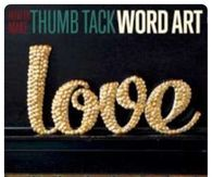 Thumbtack word art