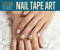 Nail tape art