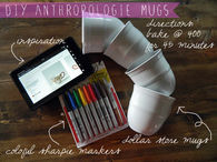DIY Anthropologie Mugs