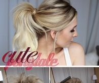 DIY Cute Ponytail