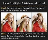 DIY Milkmaid Braid