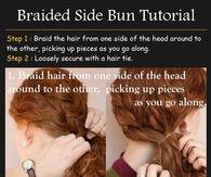 Braided Side Bun tutorial